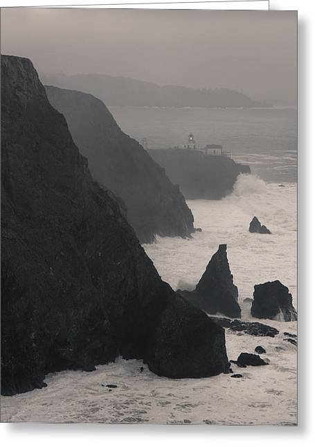 Greeting Card featuring the photograph Point Bonita Lighthouse by Scott Rackers