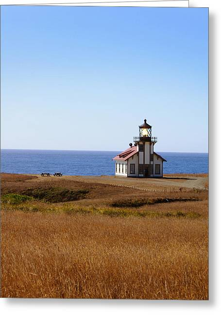 Point Cabrillo Light House Greeting Card by Abram House