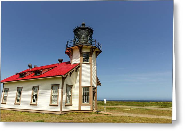 Point Cabrillo Lighthouse Greeting Card by Chuck Haney