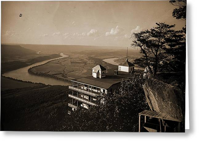 Point Hotel And The Battlefield, Lookout Mountain, Jackson Greeting Card by Litz Collection