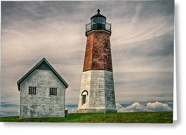 Point Judith Greeting Card by Fred LeBlanc