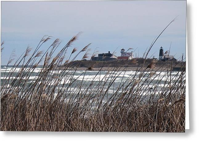 Point Judith Lighthouse Greeting Card by Glenn DiPaola