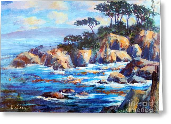 Point Lobos Greeting Card by Carolyn Jarvis