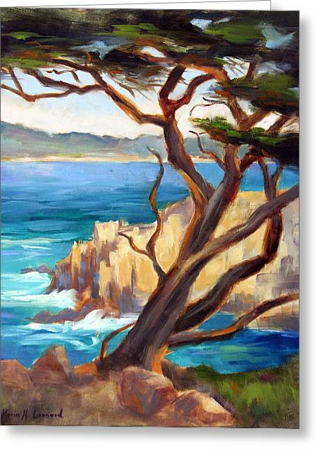 Point Lobos Cypress Greeting Card by Karin  Leonard