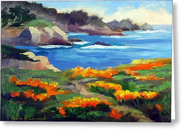 Point Lobos Spring Greeting Card by Karin  Leonard