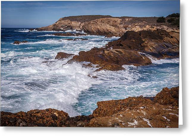 Point Lobos Surf Greeting Card by Mike Penney