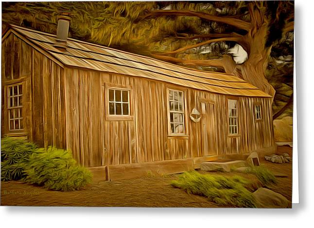 Point Lobos Whalers Cabin Greeting Card by Barbara Snyder