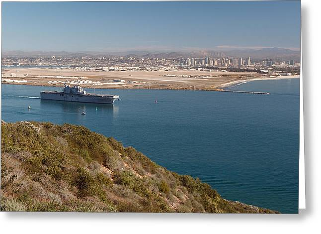 Greeting Card featuring the photograph Point Loma Looking Toward San Diego by Scott Rackers