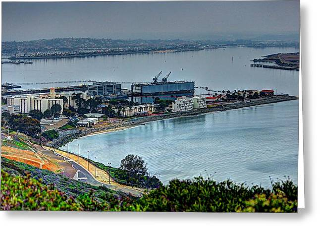 Point Loma Sub Base Greeting Card by Walt Miller