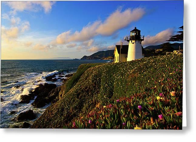 Point Montara Lighthouse At Coast Greeting Card