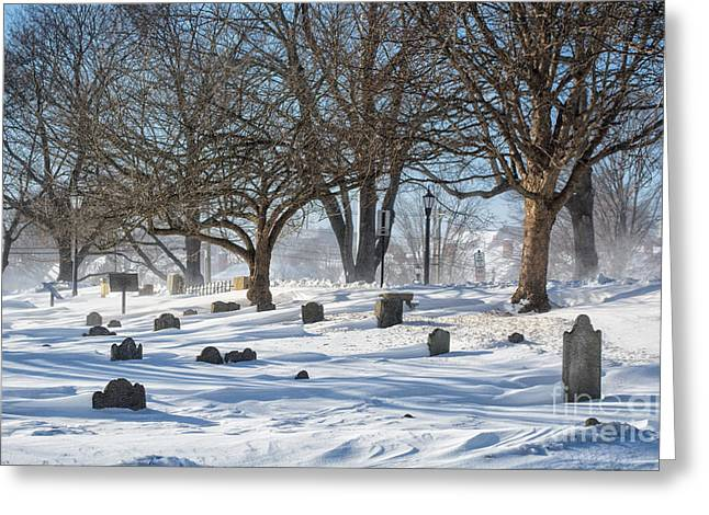 Point Of Graves Burial Grounds Greeting Card by Scott Thorp