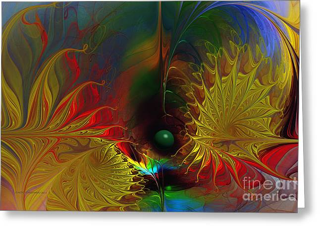 Point Of No Return-abstract Fractal Art Greeting Card by Karin Kuhlmann
