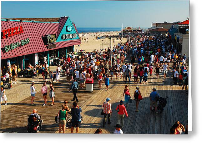 Point Pleasant Boardwalk Greeting Card by James Kirkikis