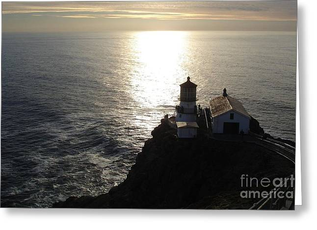 Point Reyes Lighthouse Greeting Card by Carol Groenen