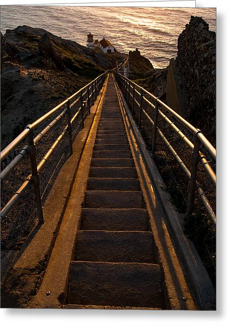 Point Reyes Lighthouse Staircase Greeting Card