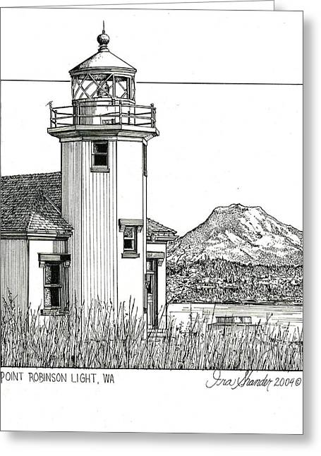 Point Robinson Light Greeting Card