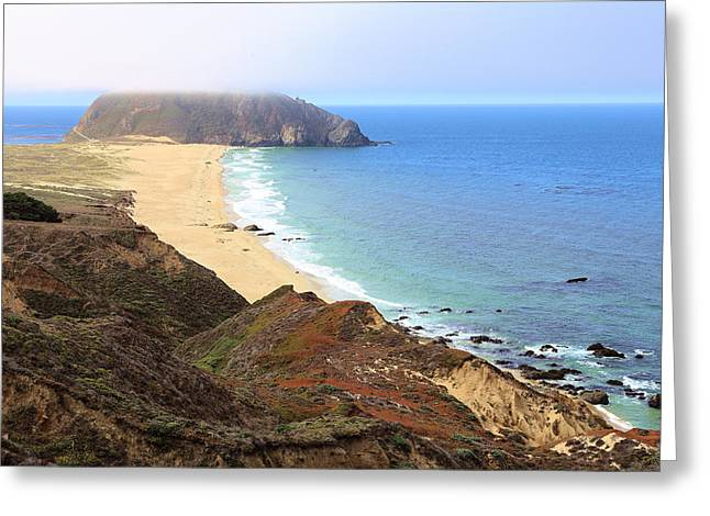 Point Sur Lighthouse In Marina Layer Greeting Card