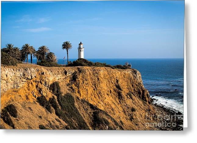 Greeting Card featuring the photograph Point Vicente Lighthouse by Eleanor Abramson