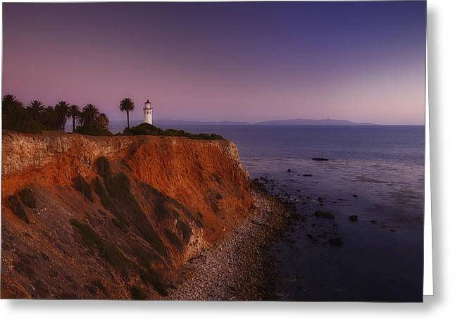 Point Vicente Lighthouse - Sunset Panorama - Rancho Palo Verdes Greeting Card