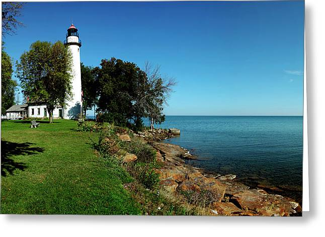 Pointe Aux Barques Lighthouse, Lake Greeting Card