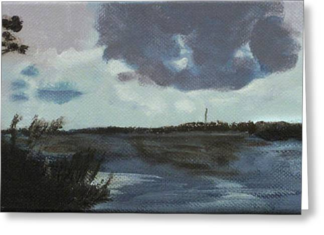 Pointe Aux Chein Blue Skies Greeting Card