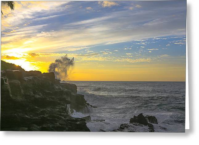 Poipu Kauai Sunrise Greeting Card by Sam Amato