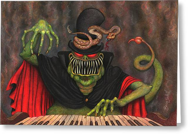 Poisonous Polyphonia Greeting Card by Bobby Beausoleil