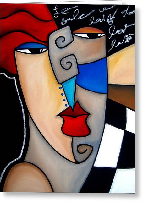 Poker Face By Fidostudio Greeting Card