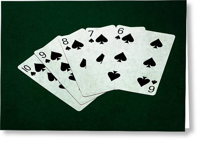 Poker Hands - Straight Flush 1 Greeting Card