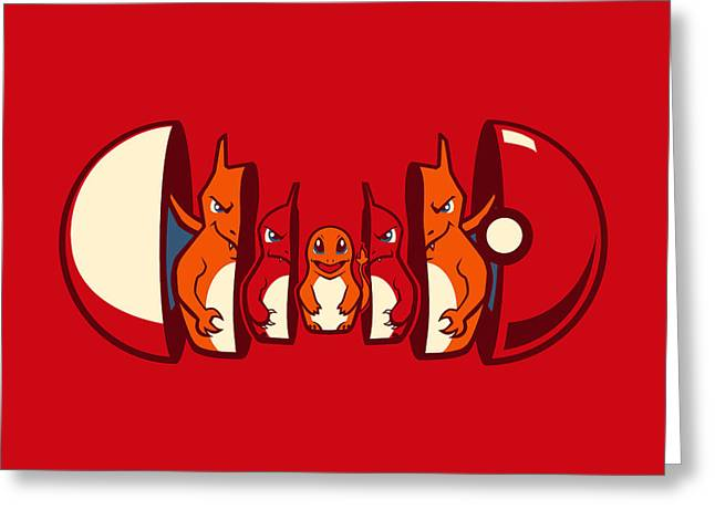Poketryoshka - Fire Type Greeting Card