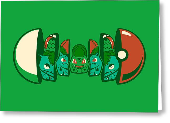 Poketryoshka - Grass Type Greeting Card