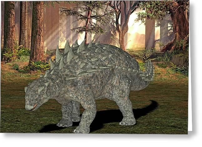 Polacanthus Dinosaur Greeting Card by Friedrich Saurer