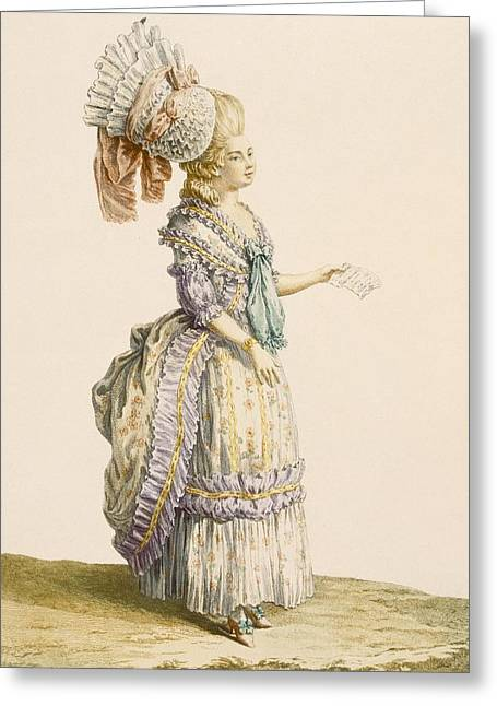Polanaise Negligee, Engraved By Le Roy Greeting Card