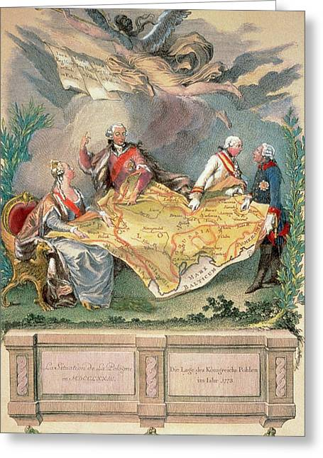 Poland  Xviii Century Allegory Greeting Card