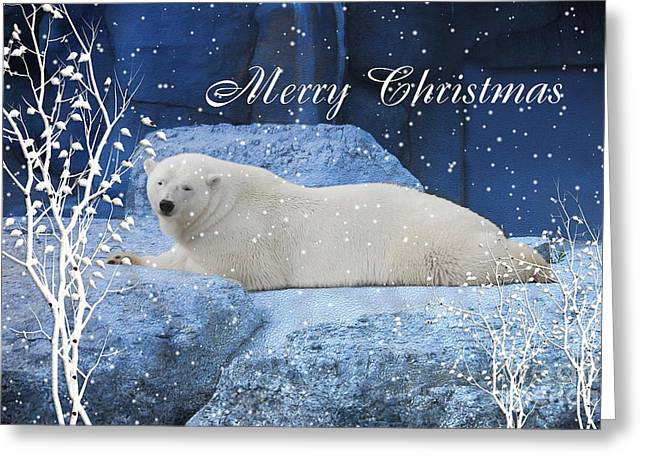 Polar Bear Christmas Greeting Greeting Card