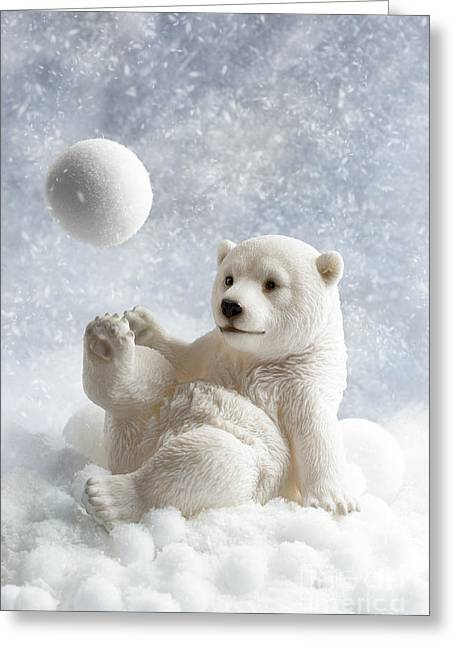 Polar Bear Decoration Greeting Card by Amanda Elwell