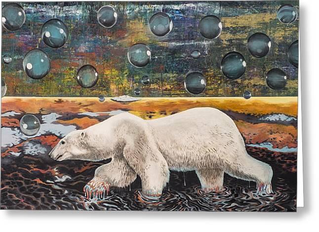 Polar Bear Displacement Replacement Greeting Card