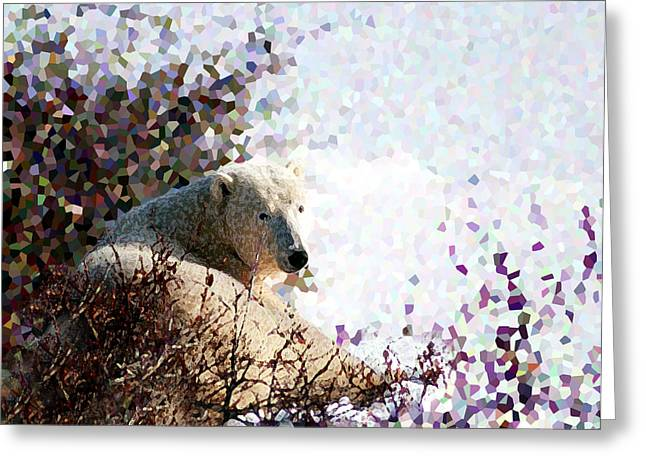 Polar Bear In Willows Greeting Card