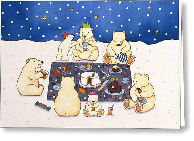 Polar Bear Picnic Greeting Card
