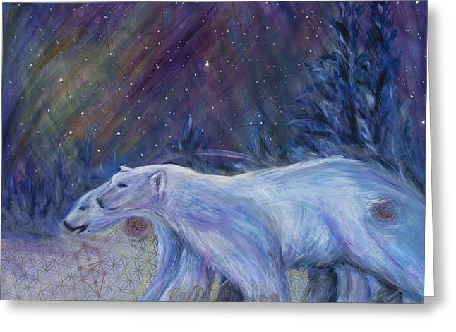 Polaris Greeting Card by Angie Bray-Widner