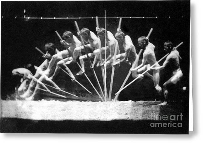 Pole Vault, 1885 Greeting Card by Science Source