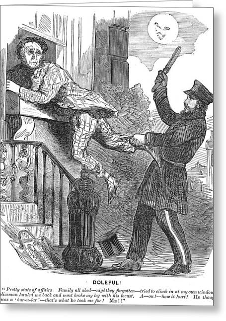 Police Cartoon, 1860 Greeting Card by Granger