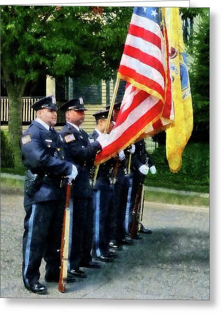 Policeman - Police Color Guard Greeting Card