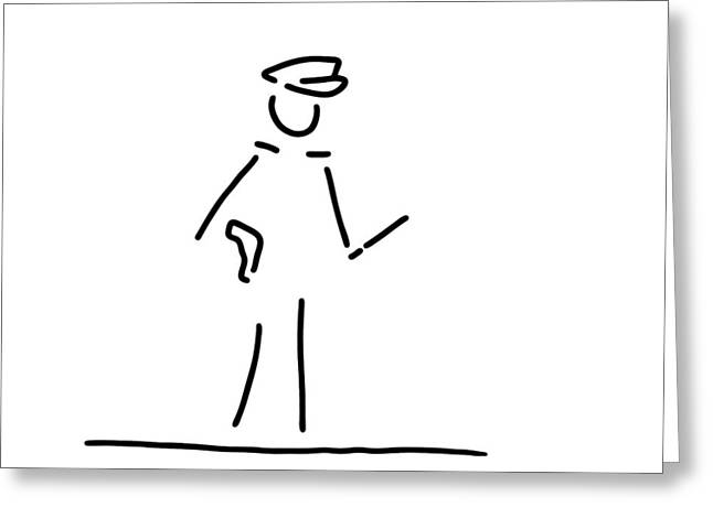 Policeman Uniformly Police Greeting Card by Lineamentum