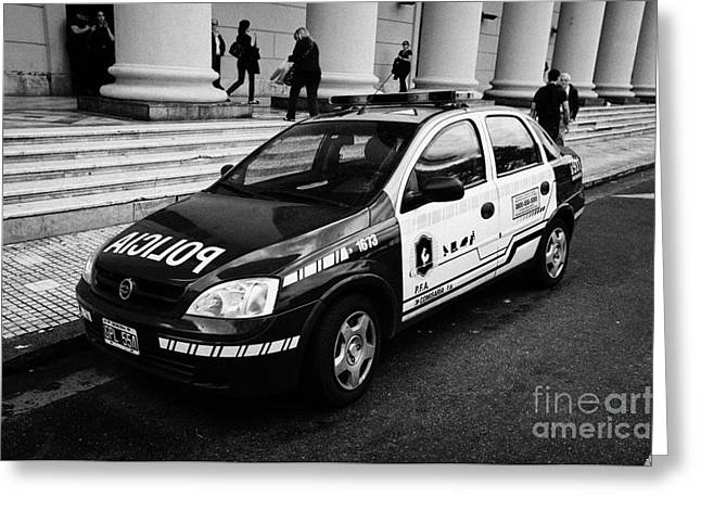 policia federal argentina federal police patrol vehicle Buenos Aires Argentina Greeting Card by Joe Fox