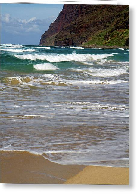Polihale Beach And State Park Located Greeting Card by David R. Frazier