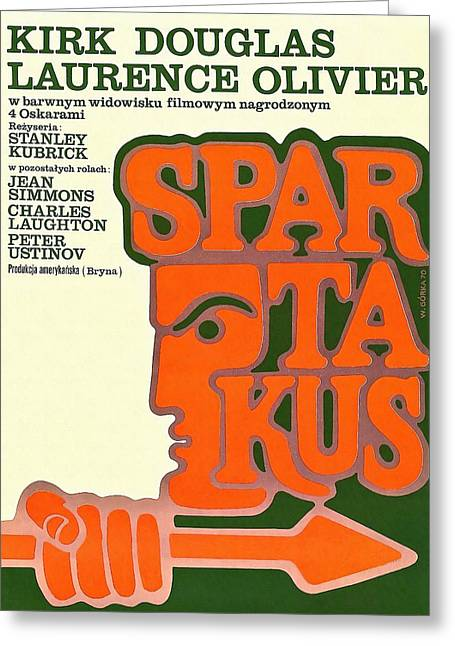 Polish Poster Spartacus Greeting Card