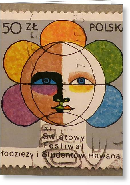 Polish Stamp - World Festival Of Youth And Students In Havana 1978 Greeting Card