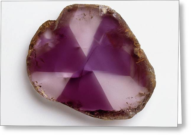 Polished Amethyst (quartz) Greeting Card