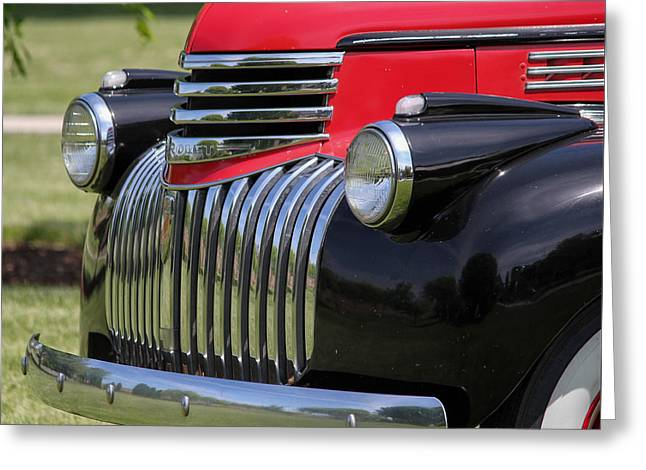 Polished Chrome Grill Greeting Card by E Faithe Lester